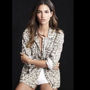 LILY ALDRIDGE AZIYA LEOPARD ARMY MULTI JACKET
